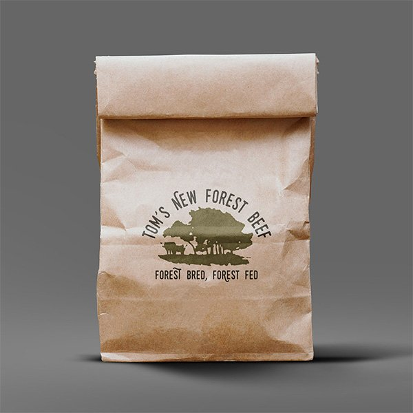 Tom's New Forest Beef Packaging Design