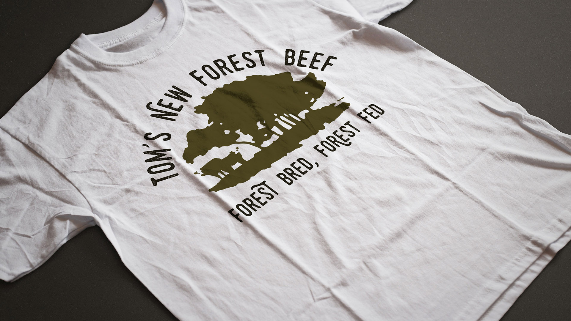 Tom's New Forest Beef Tshirt Design